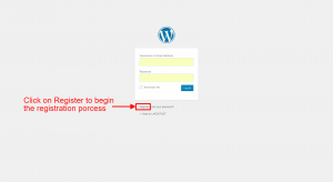 signup registration button
