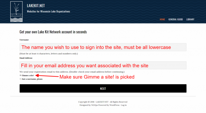 signup lakekit net 2 login info
